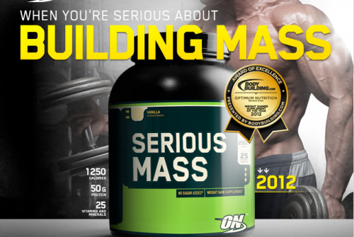 Обзор гейнера Serious Mass от Optimum Nutrition